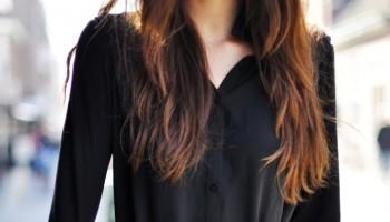 черна рокля риза