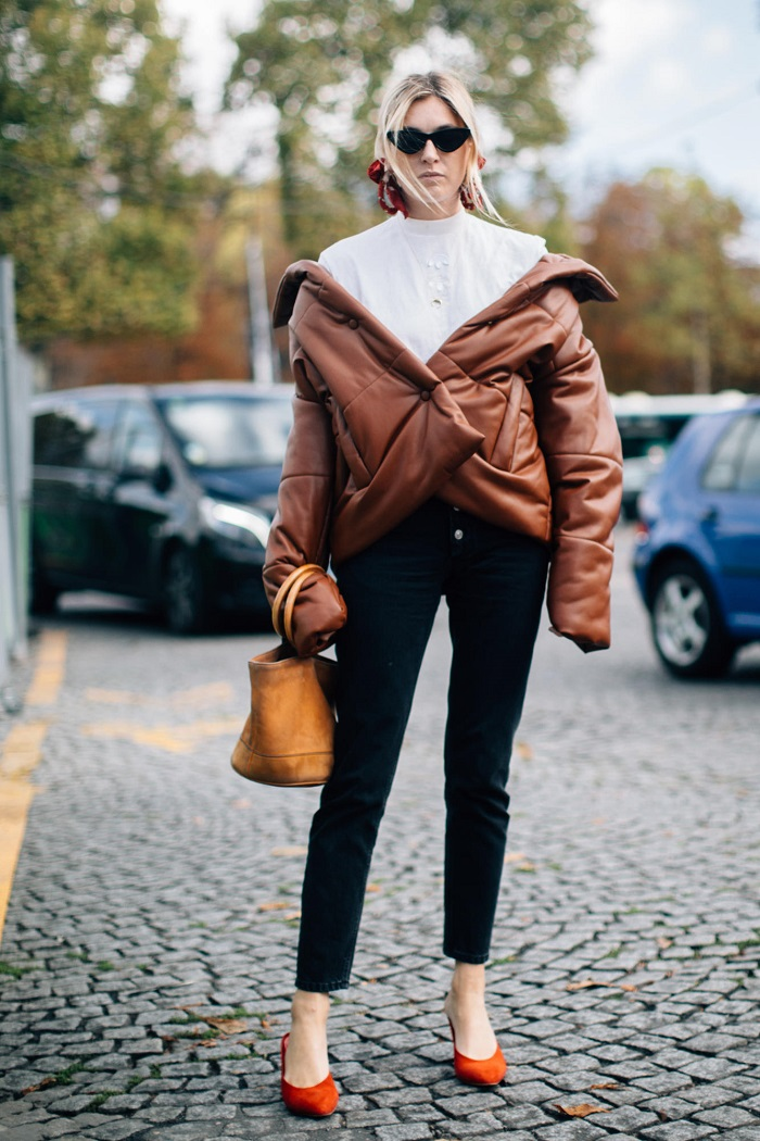 Stylish-Outfits-To-Make-Your-Puffer-Jacket-Look-Cool
